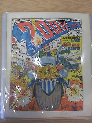 2000AD prog 61 to 85 very good condition The Cursed Earth Judge Dredd