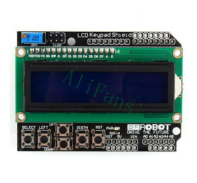 1602 LCD Board Keypad Shield Blue Backlight For Arduino LCD Duemilanove