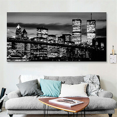 Framed Manhttan New York City Canvas Print Painting Picture Home Wall Art Decor