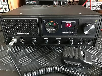 HOMEBASE CB RADIO - Uniden 300, UK 40 Channel FM - Tested & Working