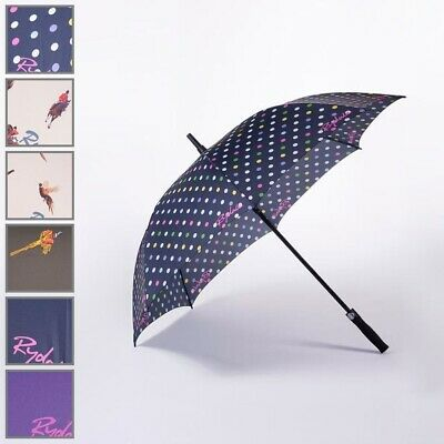 Large Golf Umbrella Country Designs Pheasant Polka Dot Plain Purple Navy Brolly
