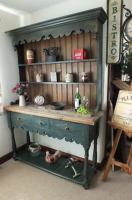 Shabby Chic Old Vintage French Rustic Pitch Pine Country Farmhouse Dresser