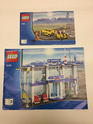 Lego City Airport 3182 Instruction Books 1 and 3 Only - No Bricks, one lot