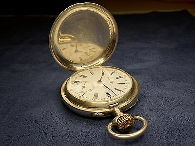 Silver full hunter Pavel Buhre Paul Buhre Павел Буре pocket watch