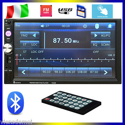 """7"""" 2 Din Car Stereo MP5 Player Bluetooth In Dash FM/USB/SD HD Touch Radio Aux IT"""