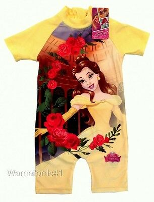 Girls BEAUTY AND THE BEAST Surfsuit, swimming costume swimsuit  Ages 18mths-5yrs
