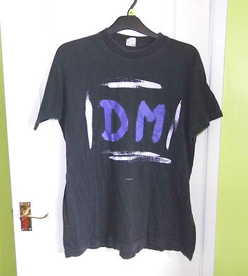 Depeche Mode DM - Songs of Faith and Devotion - Black T-Shirt 1993 - Size Large