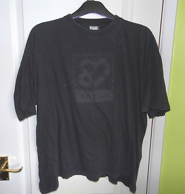 Depeche Mode - Very Rare Official Embosed 'DM Plus' Logo Black T-Shirt Size XL