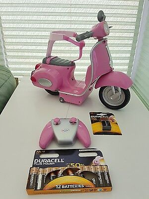 Zapf Creations Baby Born Ride On Remote Control Scooter + New Duracell Batteries
