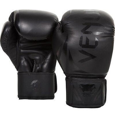 VENUM NEON CHALLENGER 2.0 BOXING GLOVES BLACK - 16oz