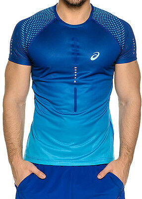 Asics Short Sleeve Mens Running Top - Blue