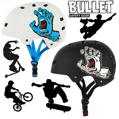 Bullet X Santa Cruz Pro Protection Skate Helmet Jim Philips Screaming Hand