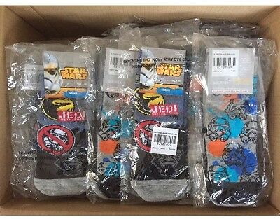 Trade Wholesale Joblot 100 x Boys Disney Star Wars Rebels 2 Pack Socks Size 6-8