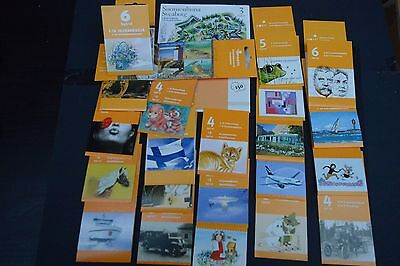 finland stamp booklets 2001-2008  24 booklets cat £228+