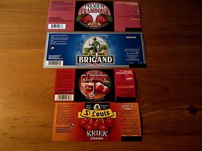 30 Belgian unused beer labels Etiquettes de biere