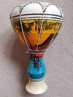 Small Clay African Djembe Drum with skin top