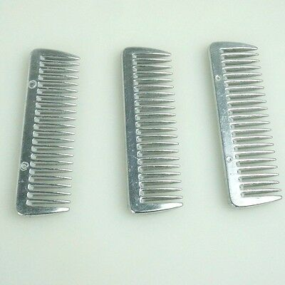 Z179 Stainless Metal Pulling Combs Horse Mane Tail Combs  3PCS  a set 4013