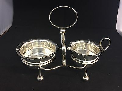 Vintage Silver Plate Sugar Bowl And Cream jug With Stand-Yeoman Plate