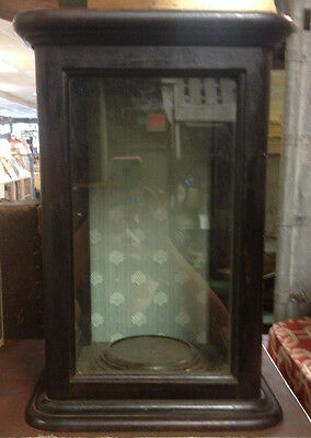 Antique Wood And Glass Display Showcase - Table Top Or Wall Hanging
