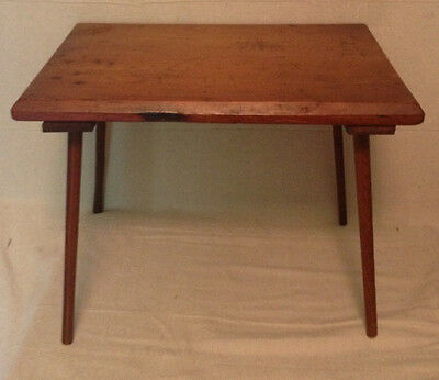 Antique Pencil Leg Stand Table Possibly Shaker