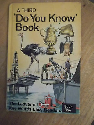 Vintage LADYBIRD Key Words Easy Reader book A THIRD DO YOU KNOW BOOK matt cover.