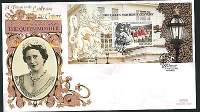 1999 Queen Mother's Century - FDC - Bahamas Pmk