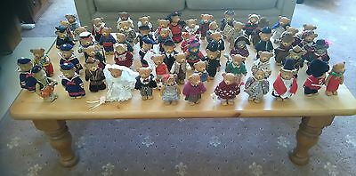 Huge collection/bundle/joblot of collectable Russ Teddy Town Bears-over 55 bears