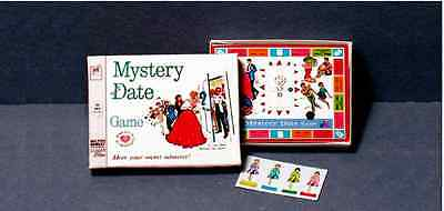 Playscale 1:6  Mystery Date Game  1960s retro  Barbie Blythe doll  Diorama game