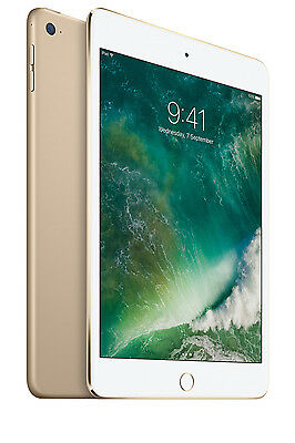 NEW Apple iPad mini 4 Wi-Fi 128GB Gold MK9Q2X/A