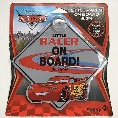 New Disney Pixar Little Racer On Board Sign From Movie Cars #95 Buzz Lightyear