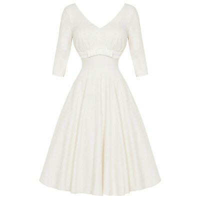 Voodoo Vixen Dorothy Ivory 1950s Retro Vintage Wedding Bridesmaid Prom Dress