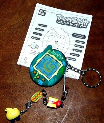 Tamagotchi Collection V3 Virtual Pet Green W/Frogs & Instructions & Keychain