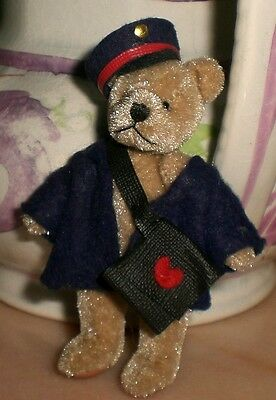 Schuco Teddy Bear Miniature Postman Old