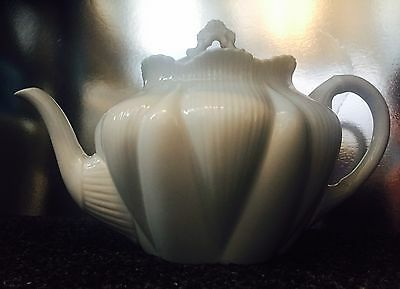 Vintage Art Deco Shelley Dainty White China Teapot Rd 272101 Quality