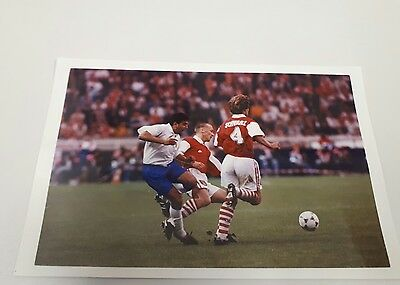 Press Photo Arsenal v Real Zaragoza  Nayim Dixon Schwarz ECWC Final 10/05/95