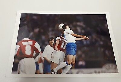 Press Photo Arsenal v Real Zaragoza Parlour and Poyet ECWC Final 10/5/95 VGC