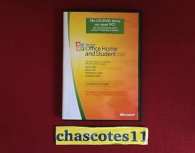 Genuine Microsoft Office 2007 Home and Student, Retail box, 3 Home PC Licences
