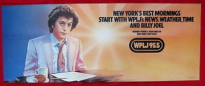 Billy Joel 1979 WPLJ NYC radio poster mint made for subways & buses