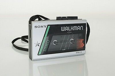 Vintage SONY WALKMAN WM-11 Stereo Cassette Player Tested Working Nice Shape