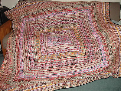 Beautiful Vintage Handcrafted Quilt Bed Cover India