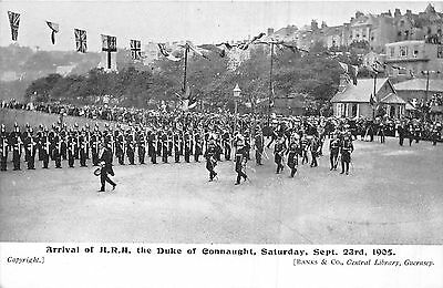 POSTCARD  GUERNSEY  ROYALTY  Arrival of  HRH  Duke of  Connaught  1905