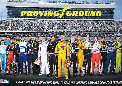 NASCAR 2016 ~ GOOD/YEAR ~ Poster featuring all NASCAR drivers ~ MINT L@@K