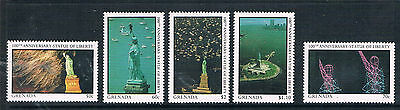 Grenada 1987 Statue of Liberty pt set SG 1646/51 MNH