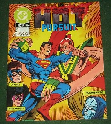 DC HEROES IN HOT PURSUIT RPG Superhero Adventure Anthology Module Superman Atom