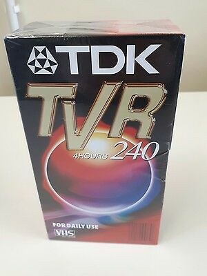 2 Pack TDK TVR 240 4 Hours Double Pack VHS Blank Cassette  New Sealed