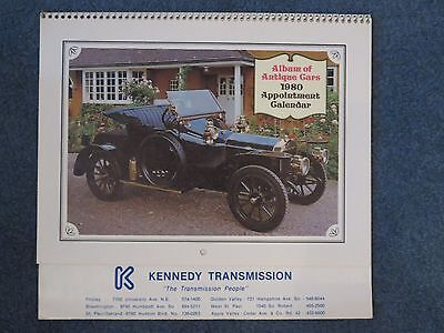 1980 Kennedy Transmission Album of Antique Cars Appointment Calendar