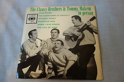 """The Clancy Brothers And Tommy Makem – In Person 7"""", EP CBS – AGG 20038"""