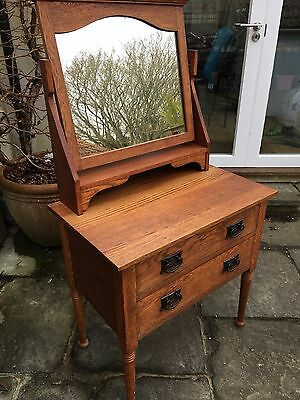 Arts And Crafts Dressing Table/Drawers