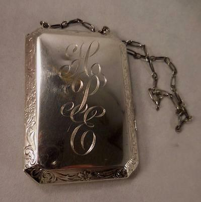 Sterling Silver Cigarette/Compact Case with Mirror & Coin Holder
