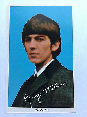 1964 George Harrison The Beatles News Enterprises, LTD. Postcard Nice Condition